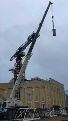 Монтаж башенного крана на 40 т кран