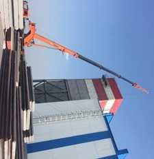 Монтаж здания стрела 44 м